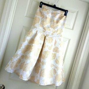 Soieblu strapless dress sz L
